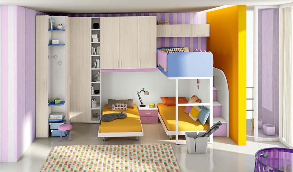 Camerette Moderne Colombini Soppalco – Bruni Arredamenti – 103
