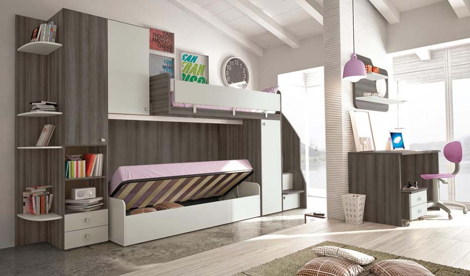 Camerette Moderne Colombini Soppalco – Bruni Arredamenti – 109