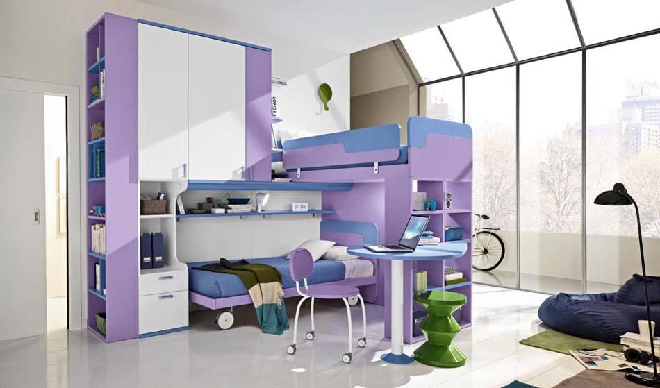 Camerette Moderne Colombini Soppalco – Bruni Arredamenti – 113