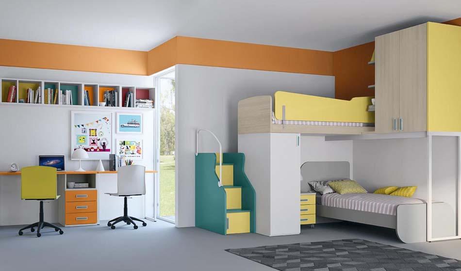 Camerette Moderne Colombini Soppalco – Bruni Arredamenti – 120