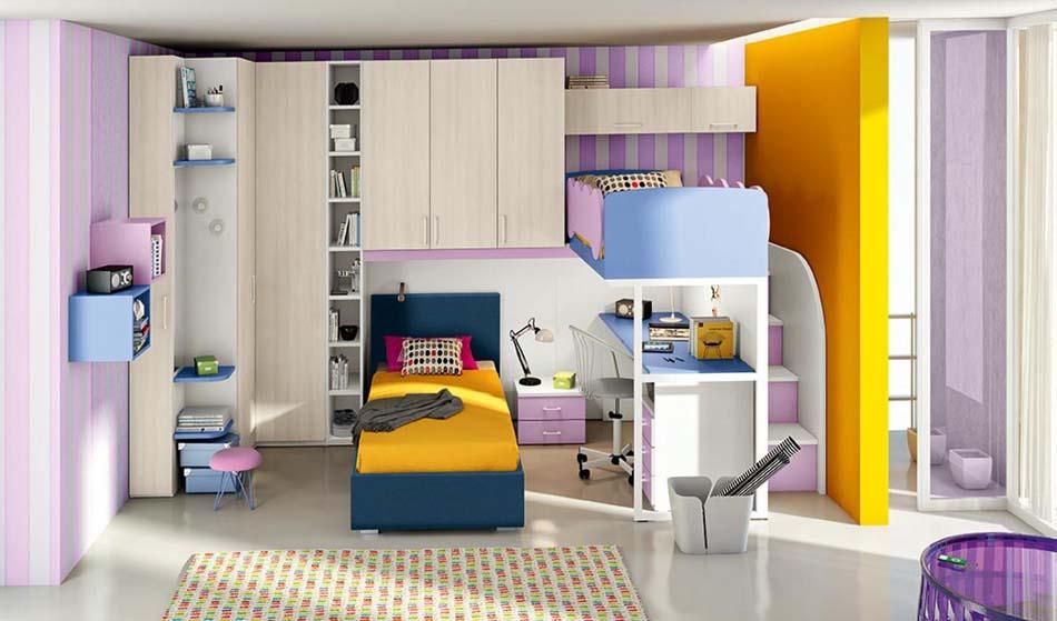 Camerette Moderne Colombini Soppalco – Bruni Arredamenti – 122