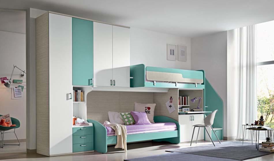 Camerette Moderne Colombini Soppalco – Bruni Arredamenti – 123