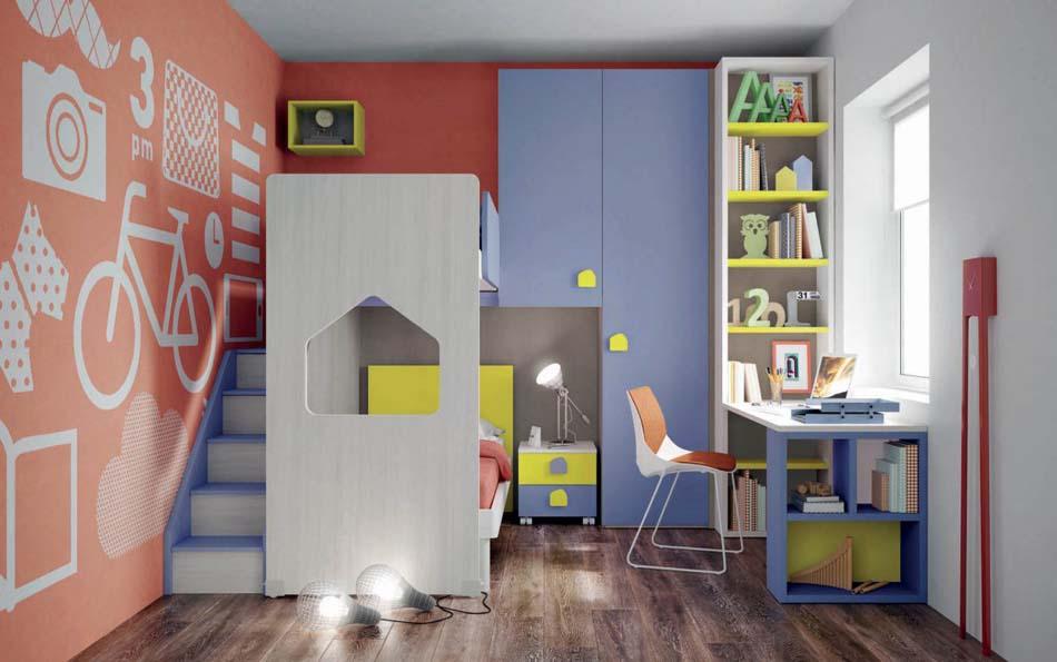 Camerette Moderne Soppalco Mistral – Bruni Arredamenti – 102