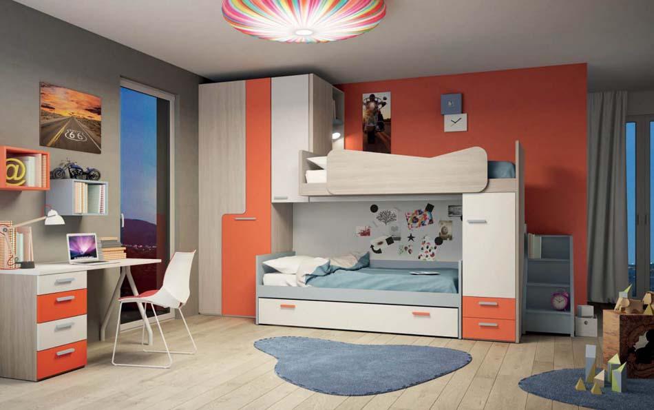 Camerette Moderne Soppalco Mistral – Bruni Arredamenti – 103A