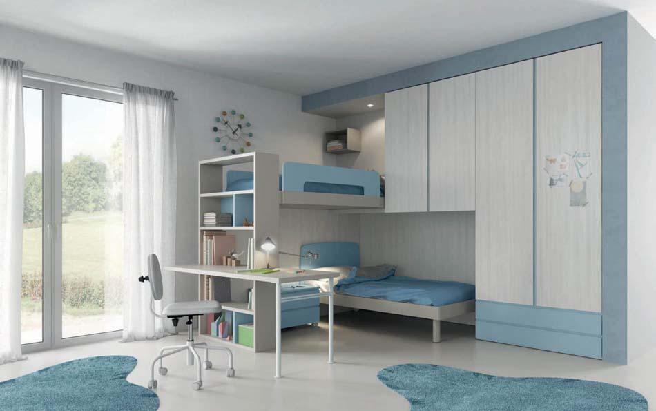 Camerette Moderne Soppalco Mistral – Bruni Arredamenti – 103C