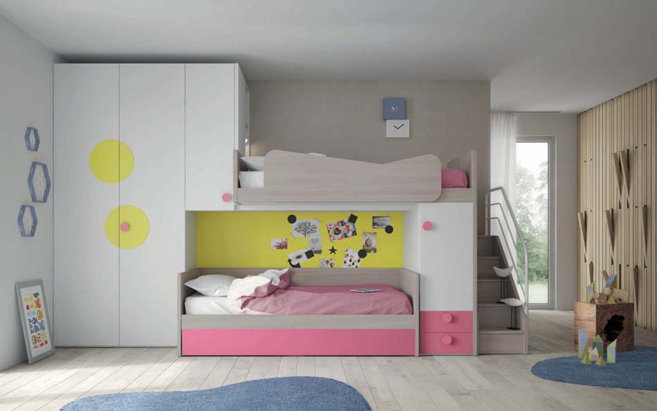 Camerette Moderne Soppalco Mistral – Bruni Arredamenti – 105