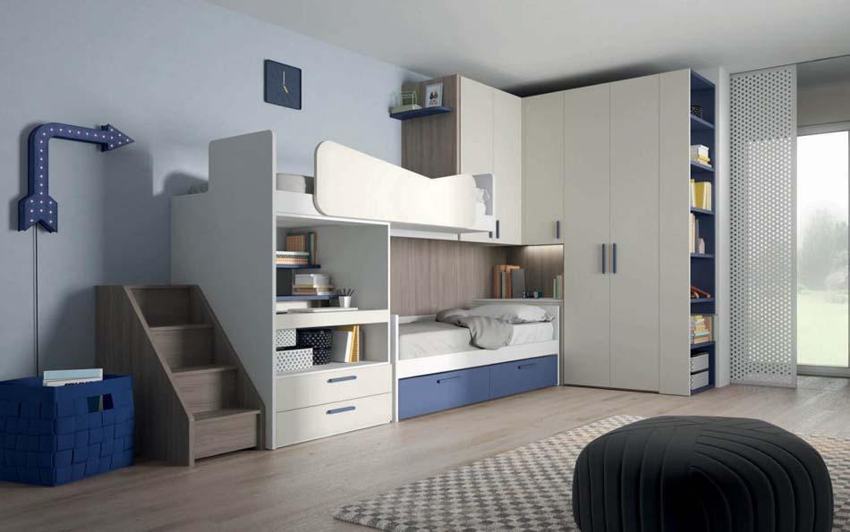 Camerette Moderne Soppalco Mistral – Bruni Arredamenti – 106