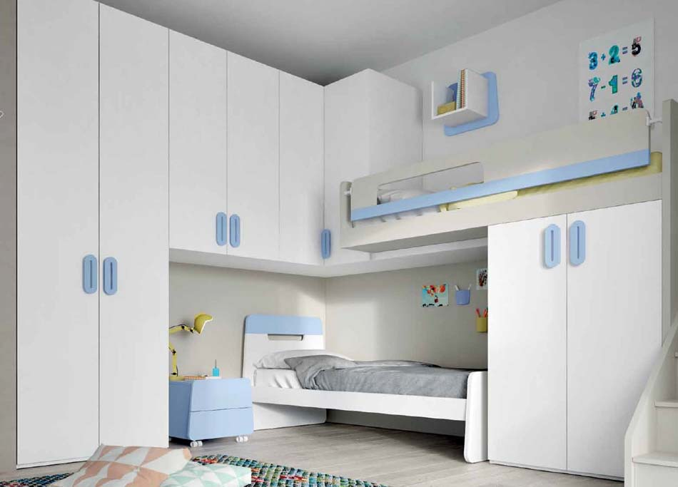 Camerette Moderne Soppalco Mistral – Bruni Arredamenti – 111