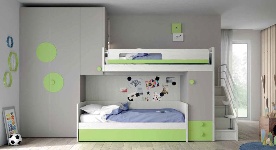 Camerette Moderne Soppalco Mistral – Bruni Arredamenti – 112