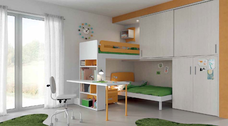 Camerette Moderne Soppalco Mistral – Bruni Arredamenti – 115