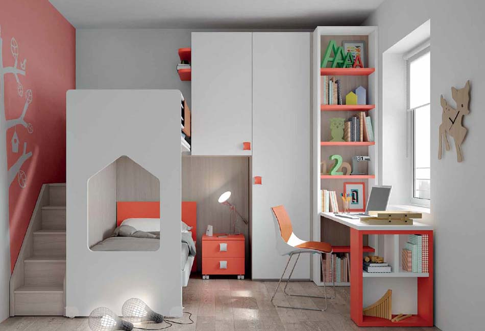 Camerette Moderne Soppalco Mistral – Bruni Arredamenti – 116