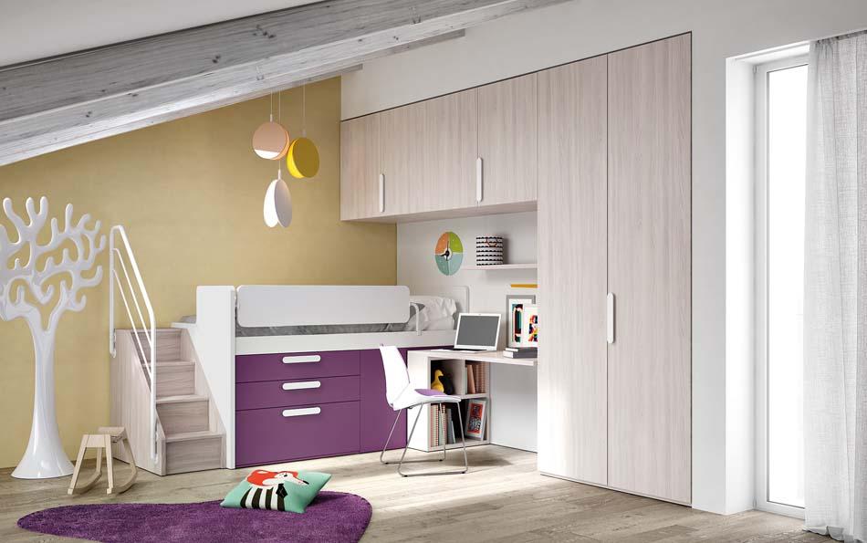 Camerette Moderne Soppalco Mistral – Bruni Arredamenti – 119