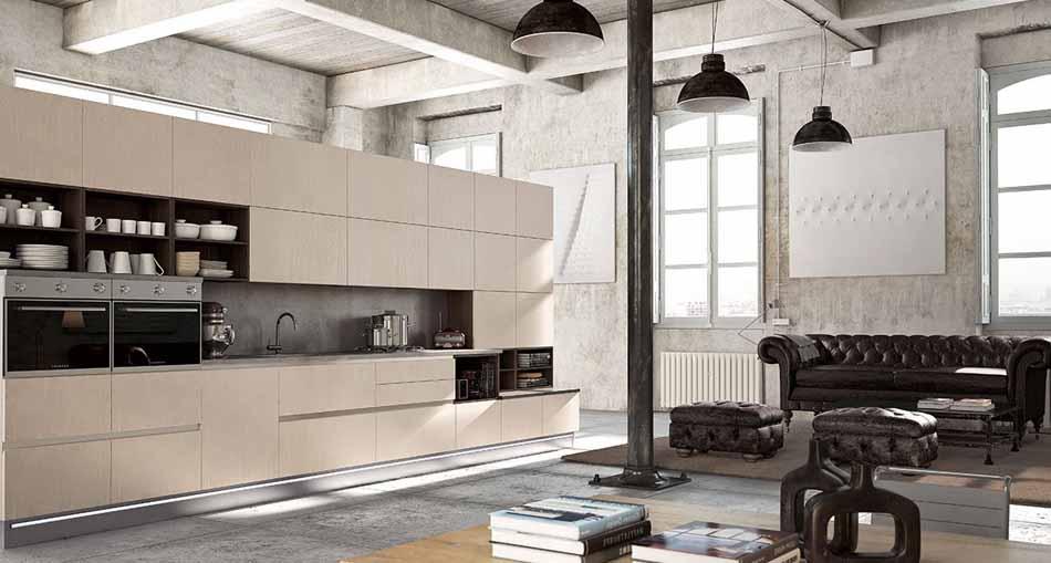 Cucine artigiali su misura 57 – Linea Lounge – Bruni Arredamenti.