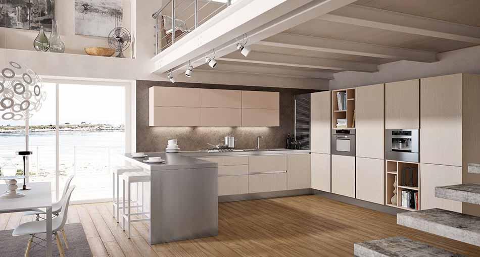 Cucine artigiali su misura 67 – Linea Lounge – Bruni Arredamenti.