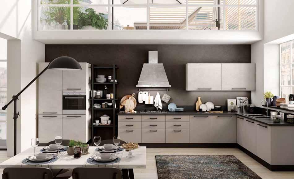 Cucine artigiali su misura 82 – Linea Brooklyn – Bruni Arredamenti