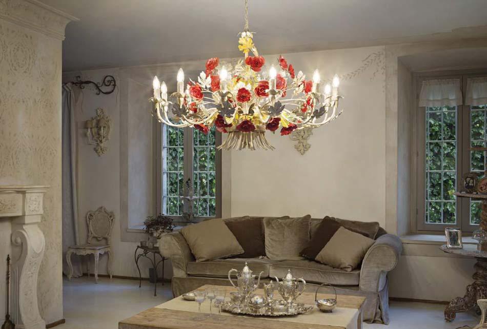 Lampade 13 sospensione Classico Ideal Lux camilla – Bruni Arredamenti