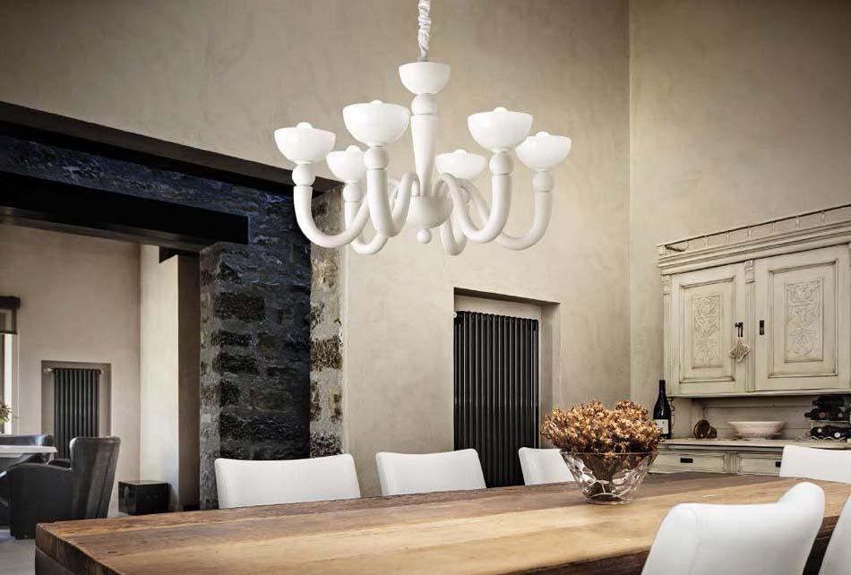 Lampade 40 sospensione Classico Ideal Lux White Lady – Bruni Arredamenti