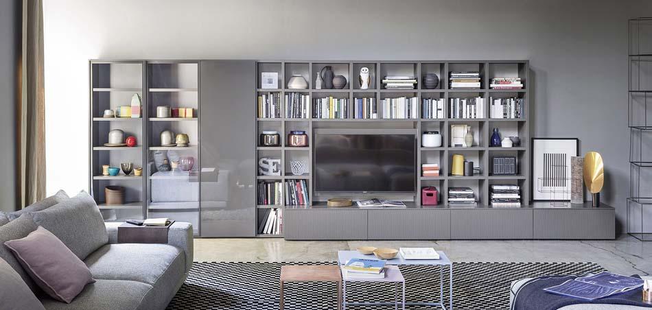 Novamobili pareti attrezzate madie e librerie bruni for Librerie pareti attrezzate